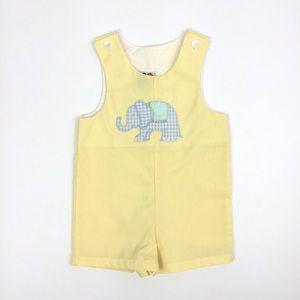 Good Lad Light Yellow Elephant Romper 18 Months